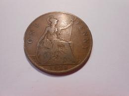 Grossbritannien  One Penny  1928  King Georg V - V S - 1902-1971 : Post-Victorian Coins