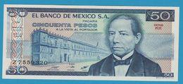 MEXICO 50 Pesos  JUAREZ27.01.1981Serie KK Z7559320  P# 73 - Mexico