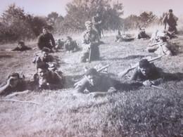 WW2-1er Bataillon 4ème Zouaves-Oct 1945 Photo Militaire Guerre,Cie Exercice à Nivolet Photographie Originale S.P. 88994 - War, Military