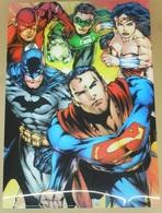 ** DC COMICS ** SUPERMAN / BATMAN ** POSTER RELIEF * 3D * IMAGE ANAGLYPHES ** 47cm X 67cm . (™ & © DC COMICS. (s12)) - Posters