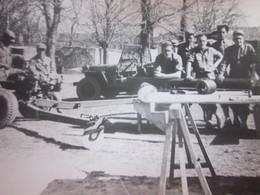 WW2-1er Bataillon 4ème Zouaves-1945 Photo Militaire Guerre,St Symphorien La SAC Au... Photographie Originale S.P. 88994 - War, Military