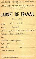 Carnet De Travail Ville De Maisons Alfort Colonies De Vacances De Gouville Sur Mer 1946 - Other