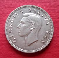 Afrique Du Sud  South Africa Georges VI 5 Shillings 1952  Argent Monnaie - South Africa