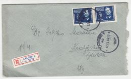 Yugoslavia, Letter Cover Registered Travelled 1946 Zagreb To Kraljevica B180220 - 1945-1992 Sozialistische Föderative Republik Jugoslawien