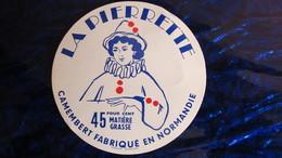 """étiquette Ancienne Camembert Normand """"La Pierrette"""" - Cheese"""