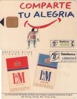 TARJETA TELEFONICA DE ESPAÑA USADA. 03.97 - TIRADA 12100 (345). TABACO L&M - Spain