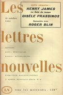 """Revue """" Les Lettres Nouvelles"""" No  27 -28 Octobre 1959 Henry James Roger Blin Gisèle Prassinos  Envoi 2,50 - Cinema"""