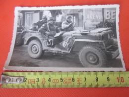 WW2-1er Bataillon 4ème Zouaves-1942 Photo Militaire Guerre,En Jeep à Moncef Tunisie Photographie Originale S.P. 88994 - War, Military