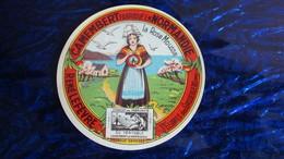 "étiquette Ancienne Camembert Normand ""La Rose Mousse"" - Fromage"