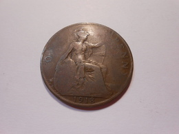 Grossbritannien  One Penny  1918  King Georg V - V S - 1902-1971 : Post-Victorian Coins