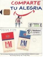 TARJETA TELEFONICA DE ESPAÑA USADA. 11.97 - TIRADA 19400 (346). TABACO L&M - Spain