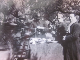 WW2-1er Bataillon 4è Zouaves-1942 Photo Militaire Guerre,Popote Oficier Bouficha Tunisie Photographie Original S.P.88994 - War, Military