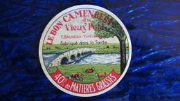 """étiquette Ancienne Camembert Normand """"Le Bon Camembert Du Vieux Pont"""" - Cheese"""