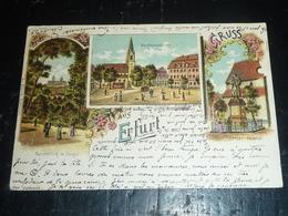 GRUSS AUS ERFURT ENSEMBLE DE 4 CARTES POSTALES - THURINGE ALLEMAGNE (Z) - Erfurt