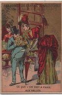 Chromo/Aux Armes De France/Aux Halles/Grande Manufacture Chaussures Cousues & Vissées/Huet/Paris/Vers 1880   IMA393 - Cromo