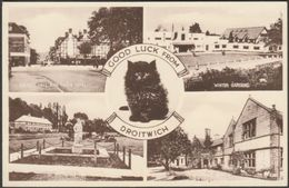 Multiview, Good Luck From Droitwich, C.1950 - Valentine's Postcard - Worcestershire