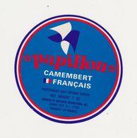 ETIQUETTE (T)  DE CAMEMBERT PAPILLON - Cheese