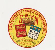 ETIQUETTE (T)  DE CAMEMBERT SEVN LISIEUX - Cheese