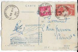 """1937 - CARTE Par AVION AIR FRANCE """"INAUGURATION De L'AEROGARE De PARIS LE BOURGET"""" - Poste Aérienne"""