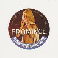 ETIQUETTE (T)  DE FROMAGE FAB. A LILLEBONNE 76 E  FEMME NUE - Cheese