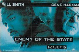 THAÏLANDE CINECARTE PHONECARD CARTE BANDE MAGNETIQUE ENEMY OF THE STATE 12/1999  MAJOR CINEPLEX - Thailand