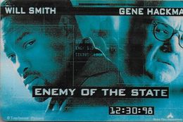 THAÏLANDE CINECARTE PHONECARD CARTE BANDE MAGNETIQUE ENEMY OF THE STATE 12/1999  MAJOR CINEPLEX - Thaïlande