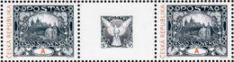 Czech Republic - 2018 - Alfons Mucha - Prague Castle - Mint Stamp Pair With Coupon - Tsjechië