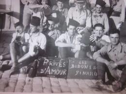 WW2-1er Bataillon 4è Zouaves-1942 Photo Militaire Guerre,Privés D'Amour Les Bido Tunisie Photographie Original S.P.88994 - War, Military