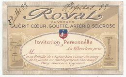 ROYAT : INVITATION PERSONNELLE ( DEBUT XX° ) - Cartoncini Da Visita