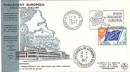 DR-L101 - CONSEIL DE L'EUROPE 4 FDC Sessions Du Parlement Européen 1971 - Service