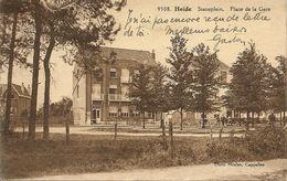KALMTHOUT - Statieplein Heide - Animatie - Kleine Bouwwerf Op Achterplan - Uitg. Hoelen H 9508 - 1929 - Kalmthout