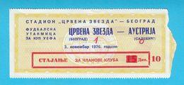 FCRED STAR : SV AUSTRIA Salzburg - 1976. UEFA CUP Football Match Ticket * Soccer Fussball Osterreich - Match Tickets