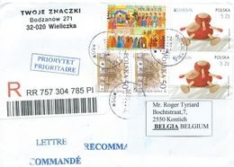 Polen     Brief Aangetekend  (O) - Enteros Postales