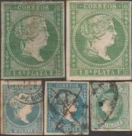 Colonias, Antillas Españolas, Y&T 2 Nuevo, 8 (x 2), 9 Nuevo Y 14 - Cuba (1874-1898)