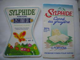 Lot De 5 étiquettes Fromage Fondu Pour Tartines BEL La Vache Qui Rit Années 1980 Sylphide - Cheese