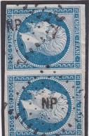"""N° 14 A   AMBULANT DE FRANCE """" NP """"  - REF 1447  + VARIETE - 1853-1860 Napoleon III"""