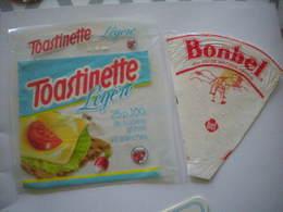 Lot De 3 étiquettes Fromage Fondu Pour Tartines BEL La Vache Qui Rit Années 1980 Toastinette Et BONBEL - Cheese
