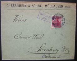 Mulhouse (Mülhausen) C. Bernheim & Söhne (Elsass) Avec Cachet Violet à Voir ! - Marcophilie (Lettres)