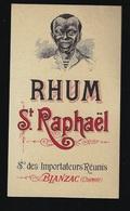 """étiquette Rhum   Saint Raphaël Sté Des Importateurs Réunis Blanzac Charente """"Visage Homme"""" - Rhum"""