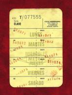 METRO - Bono Años 70 - Transportation Tickets