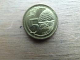 Singapour  5  Cents  2013 Km 99 - Singapour