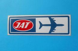 JAT - YUGOSLAV AIRLINES ... Vintage Official Sticker * National Airways * Plane * Avion * No. 1 - Stickers