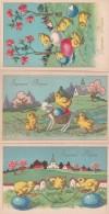 3834401Joyeuses Pâques – Vrolijk Pasen (3 Kaarten)(voir Coins – Zie Hoeken) - Pâques
