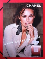 Chanel - Publicité Glacée - Coco Mademoiselle - Keira Knightley - Perfume Cards