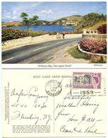 Bermuda 1959 Postcard Millhouse Bay, Harrington Sound, Scott 168 QEII & Perot P.O. - Bermuda