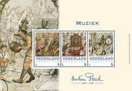 Nederland  2017    ANTON PIECK   MUZIEK MUSIC   M/S   Postfris/mnh/neuf - Periode 1980-... (Beatrix)