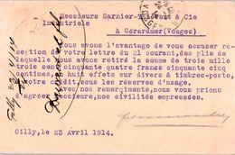 Belgique - Gilly Lez Charleroi - F. Durant & Fils  - Entiers Postaux - Postcards [1909-34]