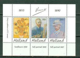 Nederland 1990 - Blok Herdenkingspostzegels Vincent Van Gogh 1853-1890 - Bloques