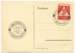 Germany, Russian Zone 1948 Scott 10NB3 FDC Tag Der Briefmarke / Stamp Day - Soviet Zone