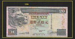 Banconota, Billets HONG KONG1998  20 DOLLARS CIRCULATED - Hong Kong